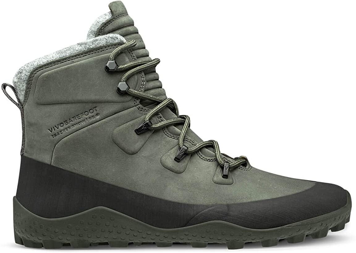 Vivobarefoot Tracker Snow Sg, Mens Rugged Boot with Barefoot Soft Ground Sole Thermal Protection
