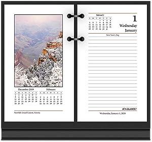 "AT-A-GLANCE 2020 Desk Calendar Refill, 3-1/2"" x 6"", Photographic (E41750)"