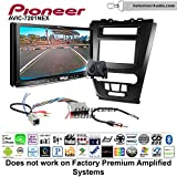 Pioneer AVIC-7201NEX Double Din Radio Install Kit with GPS Navigation Apple CarPlay Android Auto Fits 2010-2012 Fusion (Black) (Not for factory amplified systems)