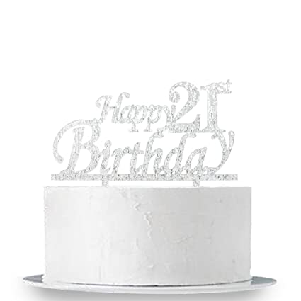 Image Unavailable Not Available For Colour Happy 21st Birthday Cake Topper