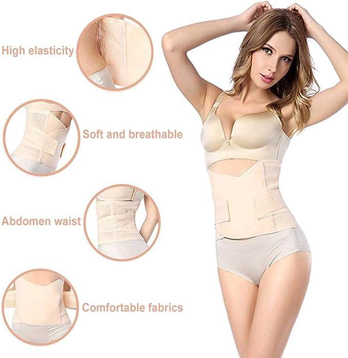 HIDARLING Posparto Recuperaci/ón Cintur/ón Mujer Adelgazantes Faja Soporte Espalda Cintur/ón Lumbar Abdomen Ajustable y Transpirable