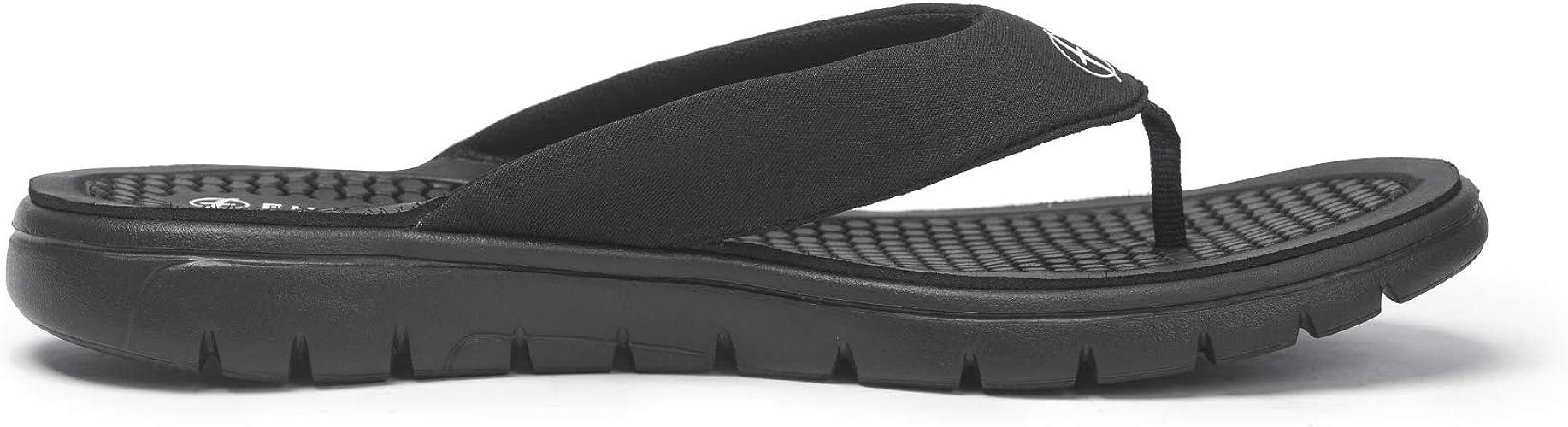 Womens Inblu BM000033 Black Thong Flip Flop Comfort Sandals Size