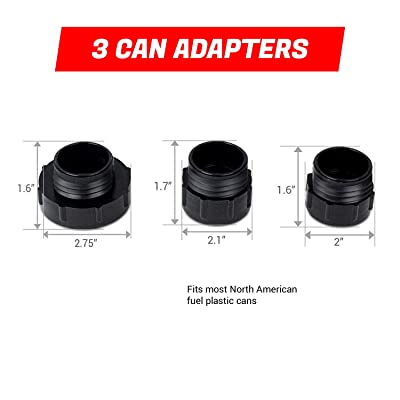 Fuel Can Adapter Bundle for Second Gen TERAPUMP TRFA01 - No More Gas Can Lifting/Fuel Transfer Pump Fitting numerous Gas Cans: Home & Kitchen