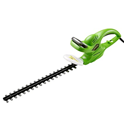 WORKPRO 500W Electric Hedge Trimmer/Cutter with 46cm Non-Stick Coated  Blades, Lightweight, Double Switch, Ideal for Garden Plants, Hedges, Shrubs