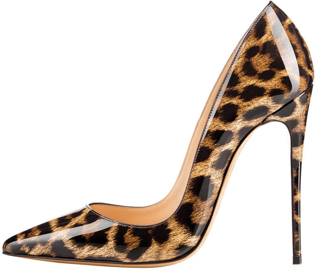 Calaier Damen Caover 12CM Schuhe Stiletto Schlüpfen Pumps Schuhe 12CM Mehrfarbig d5e734