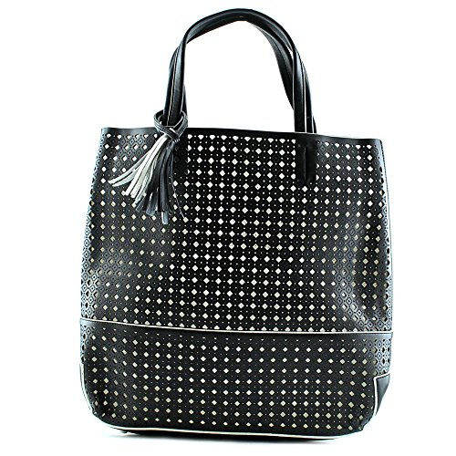 buco-large-fiore-tote-black-with-white