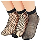 Search : Ziye Shop 3 Pairs Fishnet Socks Women Breathable Mesh Socks Punk Sexy Lace Ankle Sock