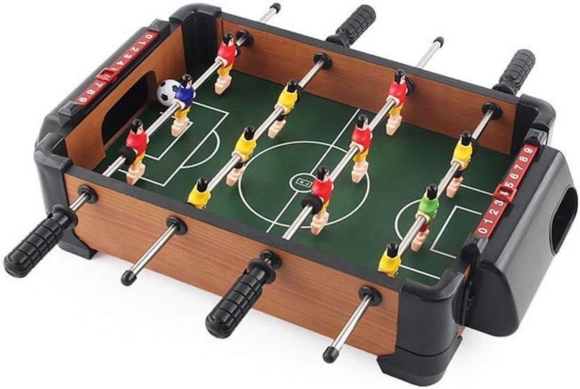 Futbolín infantil for los niños de mayores de 3 años los niños educativos entre padres e hijos Interactivo Juguetes Mini portátil de 4 barras Futbolín de madera cubierta Juego de Mesa Juguetes