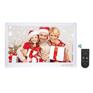 Andoer 17 marco digital Pantalla Entero IPS máquina pubblicitaria 1920 * 1080 HD Compatible con la reproducción aleatorio con mando a distancia regalo de ...