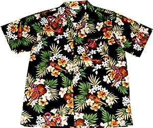 """Camisa Hawaiana Hombre """"Hawaiian Ukulele"""", 100% algodón, tamaño XL"""