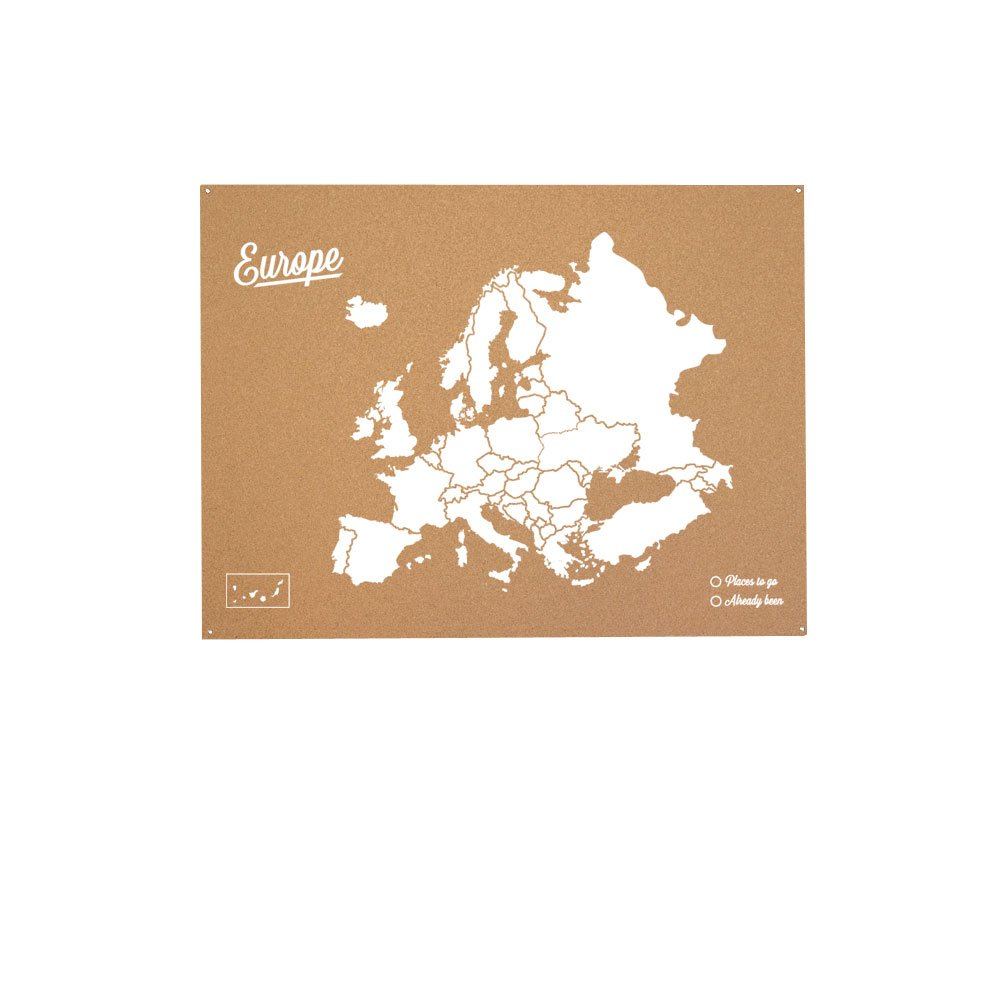 /Map of the World with Europe Design White Miss Wood Woody Map XXL Cork/