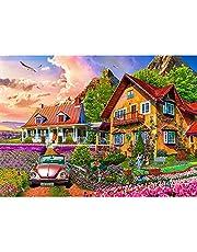 Pussel 1000 bitar, pussel för vuxna, impossible pussel, pussel färgglatt läggspel, skicklighetsspel för hela familjen, trädgård villa – vuxenpussel från 14 år.
