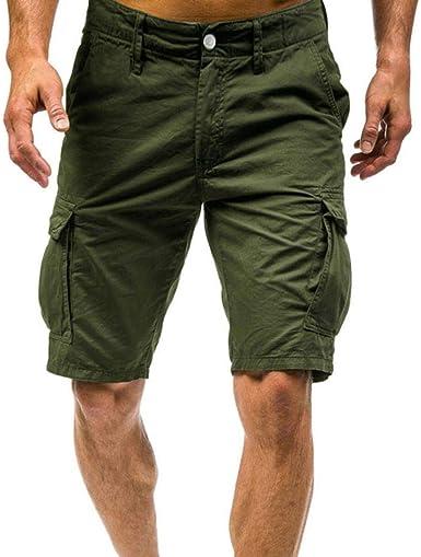 Pantalones Cortos para Hombre Corto Verano Algodón Deporte con ...