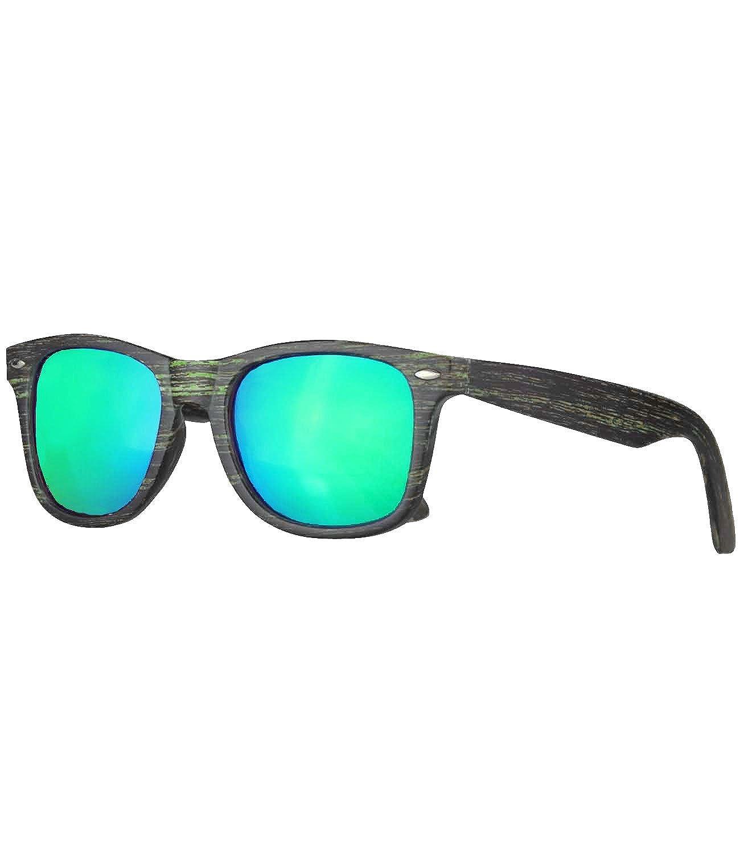 Caripe Damen Herren Sonnenbrille verspiegelt 80er Retro Nerd Vintage, Wg