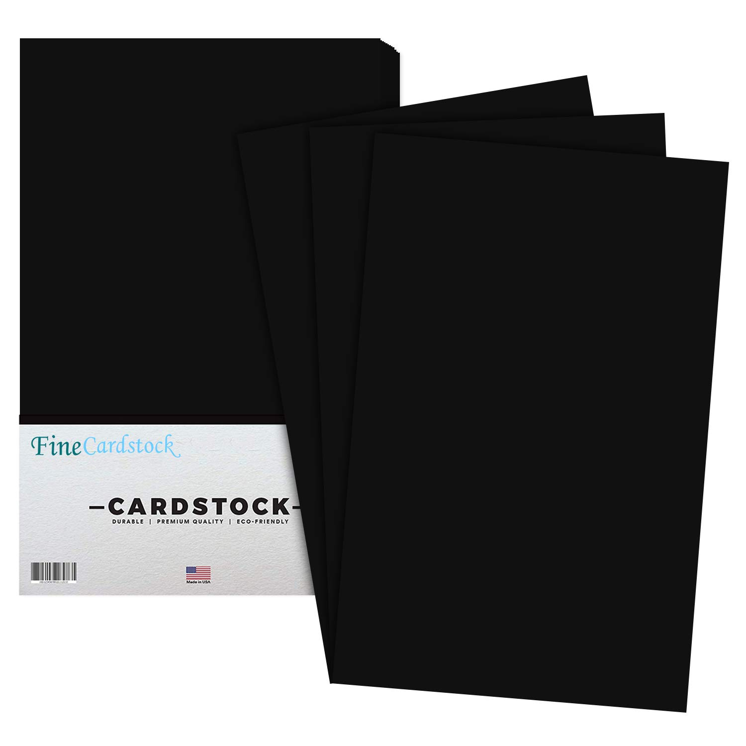 Premium Color Card Stock Paper | 50 Per Pack | Superior Thick 65-lb Cardstock, Perfect for School Supplies, Holiday Crafting, Arts and Crafts | Acid & Lignin Free | Eclipse Black | 11 x 17 by S Superfine Printing