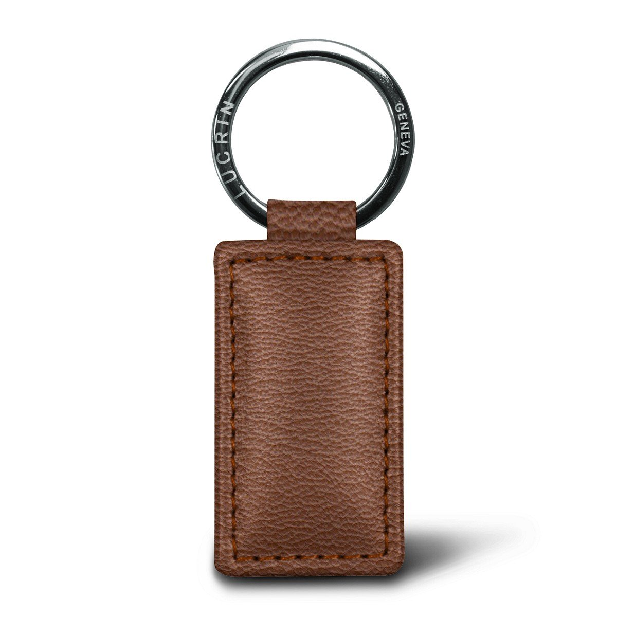 Lucrin - Rectangular Keyring - Black - Goat Leather Lucrin Leathergoods