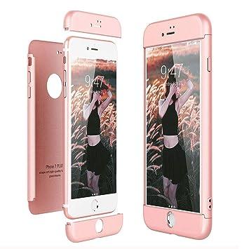 Funda para iPhone 7 Plus / 8 Plus, ToDo 3 en 1 Ultra Delgado 360 Grados Protectora PC Duro Case Cover Silicona Snap On Diseño Antigolpes Choque ...