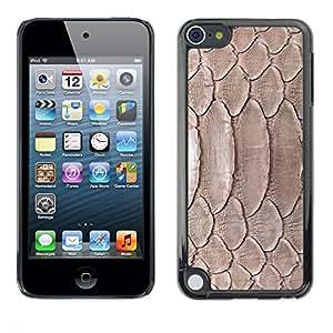 TECHCASE**Cubierta de la caja de protección la piel dura para el ** Apple iPod Touch 5 ** Nature Reptile Skin Snake Brown Wallpaper