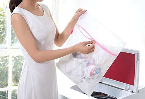 Amazon.com: Freedi Laundry Bags Mesh Washing Machine Delicates Travel Lingerie Stocking Bra Organizer Wash Bag Set of 4: Home & Kitchen