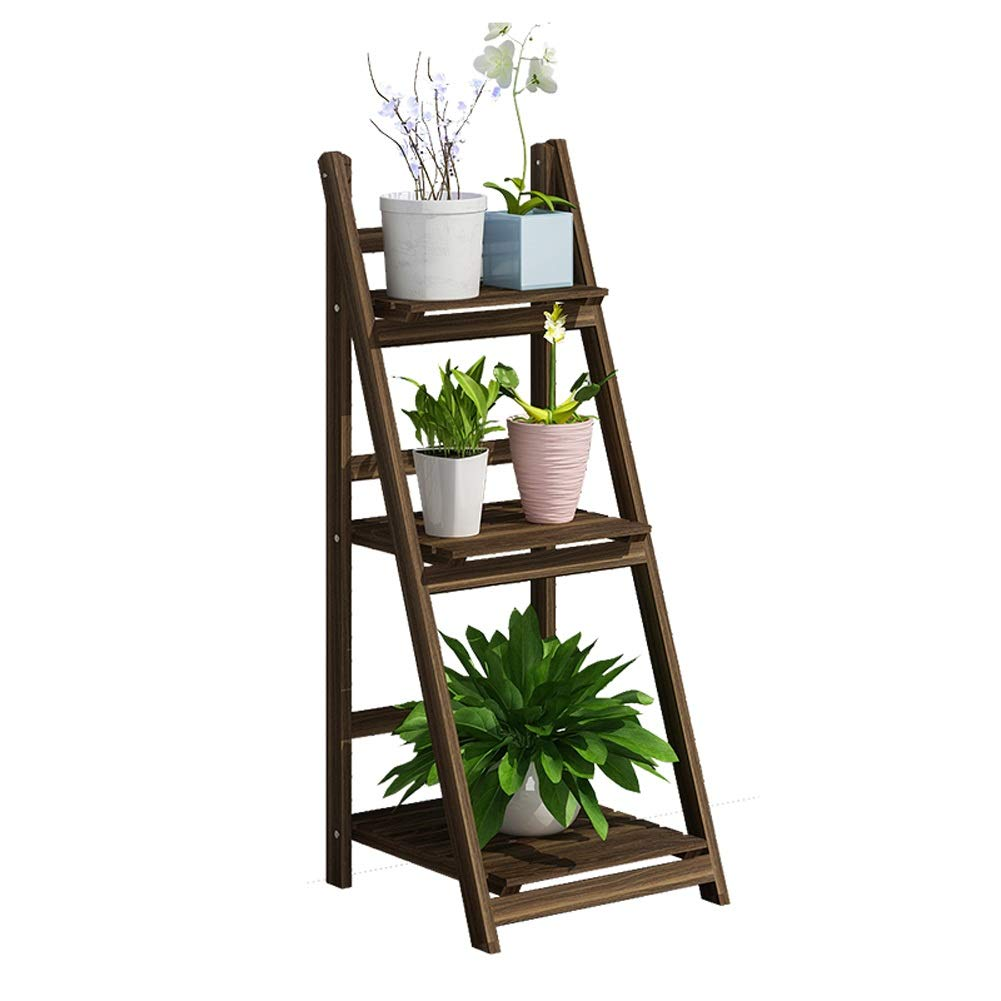 CATRP Wooden Flower Stand Multi-Layer Free Standing Plant Stand Indoor and Outdoor Flower Ladder Display Rack,2 Sizes (Size : 3 Tier)