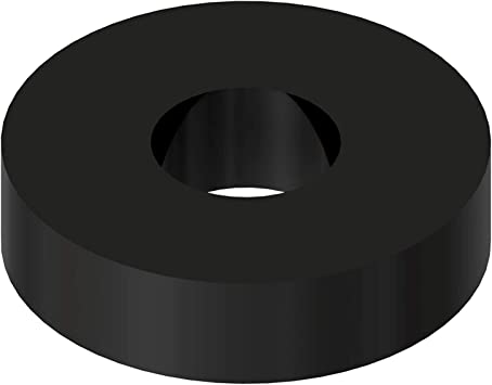 1//2 OD 0.194 ID Black Nylon Spacer 3//8 Thick 50 Pack for VEX Robotics