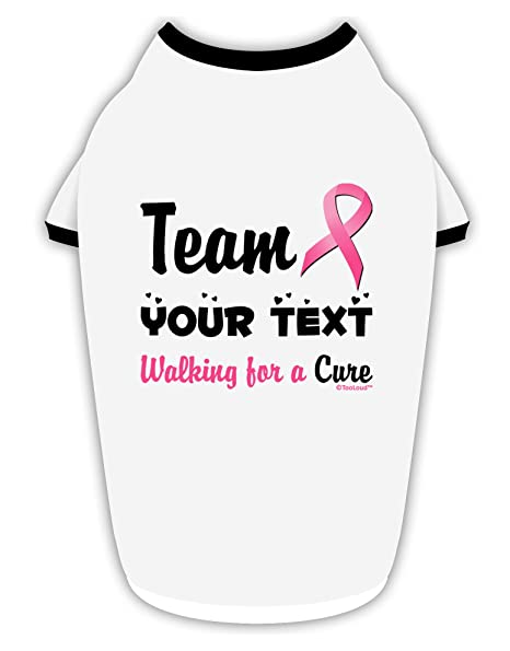 Amazon com : TooLoud Personalized Team -Name- Breast Cancer