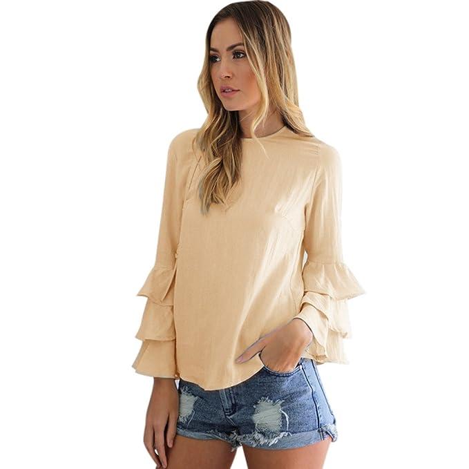 5e0ca7bf4 Blusas Mujer Primavera 2019 Fossen - Camisa de Manga Larga con ...