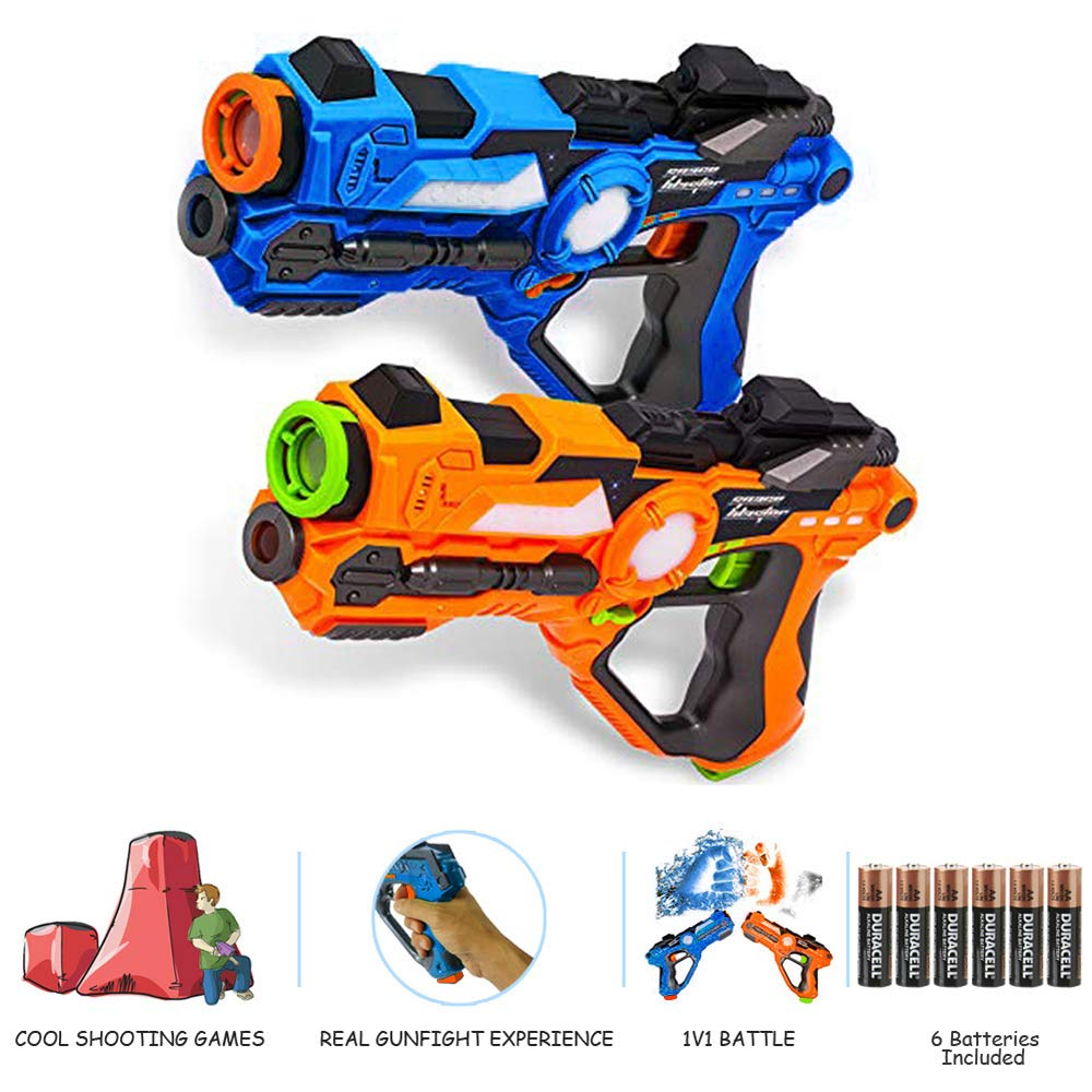 Laser Tag-Laser X Recoil Laser Tag Lasers Gun Toy Gun Set 2-Player Space Blaster Toys for Boy Gift Laser Tag Sets with Gun Games by Toyard (Image #3)