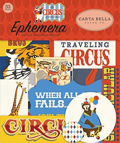Seasonstorm Vintage Circus Clown Ticket Precut Anti-UV Waterproof Decoration Album Planner Stickers Scrapbooking Diary Sticky Paper Flakes