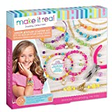 Make It Real – Junior Jeweler Starter Set. DIY Tween Girls Jewelry Making Kit. Arts and Crafts Kit Guides Kids to Design and Create Beautiful Bracelets with Beads & Gold Charms