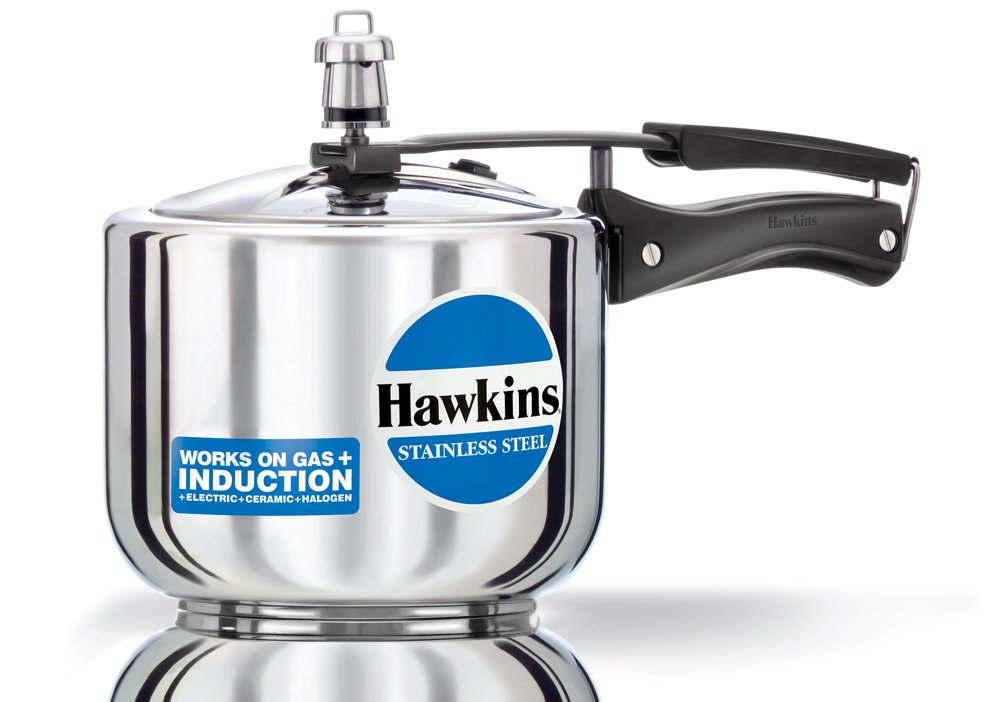 Hawkins Model B-33 3 L Tall Stainless Steel Pressure Cooker, Small, Silver B33