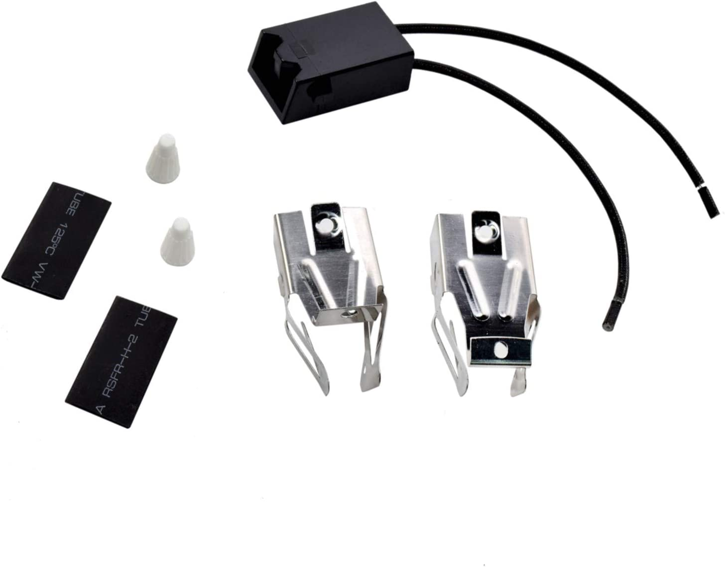 HQRP Range Top Burner Receptacle Kit Replacement for Kenmore 747954610 7479547611 9609012190 9609012191 9609072890 664RF3020XYN1 664RF3020XYN2 664RF3020XYW0 Oven Stove plus HQRP Coaster