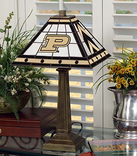 NCAA Purdue University 23in Mission Lamp, One Size, Multicolor by Memory Company