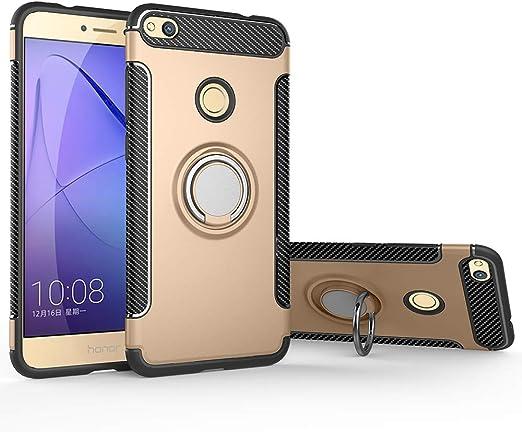 Case for Huawei P8 Lite 2017 Pra-LX3 Pra-LA1 PRA-L31 / P9 Lite 2017 Pra-LX1 / GR3 2017 Pra-LA1 Pra-LX2 Case Cover 360 Degree Rotating Ring Holder ...