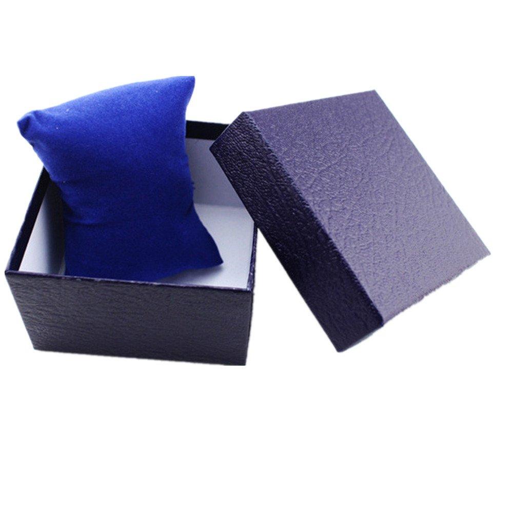 oksale耐久性Presentギフトボックスケースリングボックスのブレスレットバングルジュエリー時計ボックス 9*5.5*5.5cm/3.5*2.2*2.2inch 4331804172 B073XDNW1Jブルー