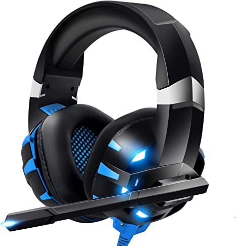 Amazon Com Runmus Gaming Headset Xbox One Headset Ps4 Headset With Crystal Clear Mic Led Light Compatible With Pc Ps4 Xbox One Controller Adapter Not Included Electronics