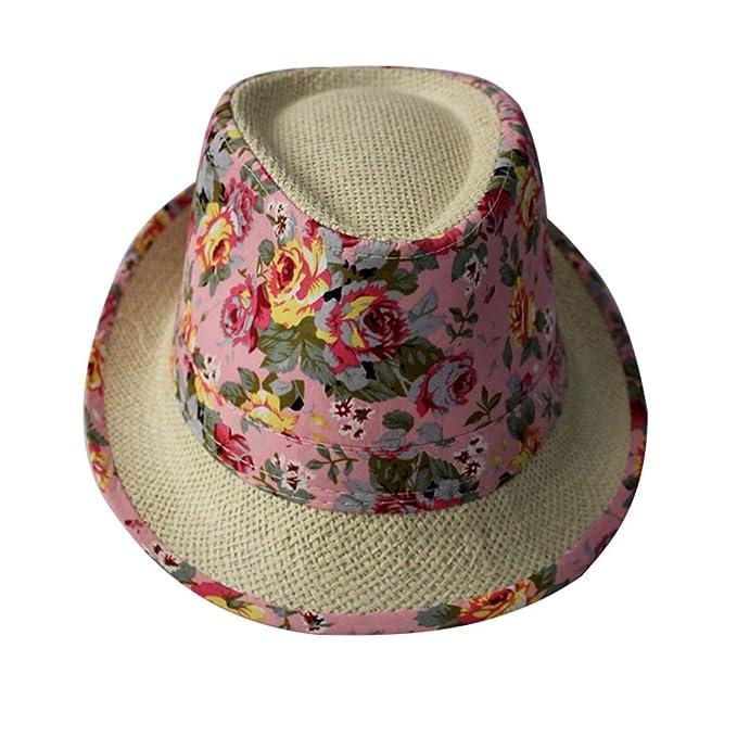 Zhiyuanan Cappello Mare Estivo Da Donna Uomo Casual Cappelli In Paglia Chic  Cappelli Di Fiori Di Spiaggia  Amazon.it  Abbigliamento f814f6393c61