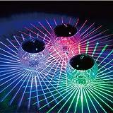 Uonlytech Solar Powered Water Float Light Pond Floating Light Magic Ball Light Garden Decoration Light Pool Light (Colorful L