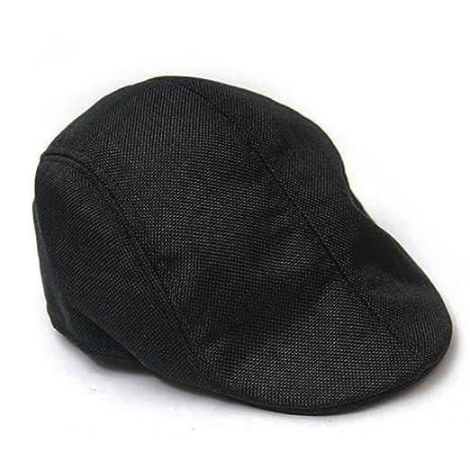 2035dfa4fc3 Shuohu Newsboy Gatsby Cap Mens Ivy Hat Golf Driving Flat Cabbie Beret Driver  Hat Warm (