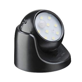 Sensor de movimiento luz 10 LED de seguridad al aire libre luz – Funciona con pilas