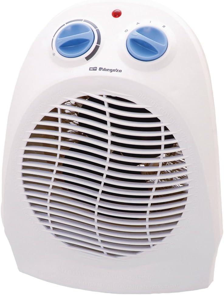 Orbegozo FH5010 Calefactor Vertical, Termostato Regulable, 2 Posiciones de Funcionamiento, Función Anticongelado, 2000 W