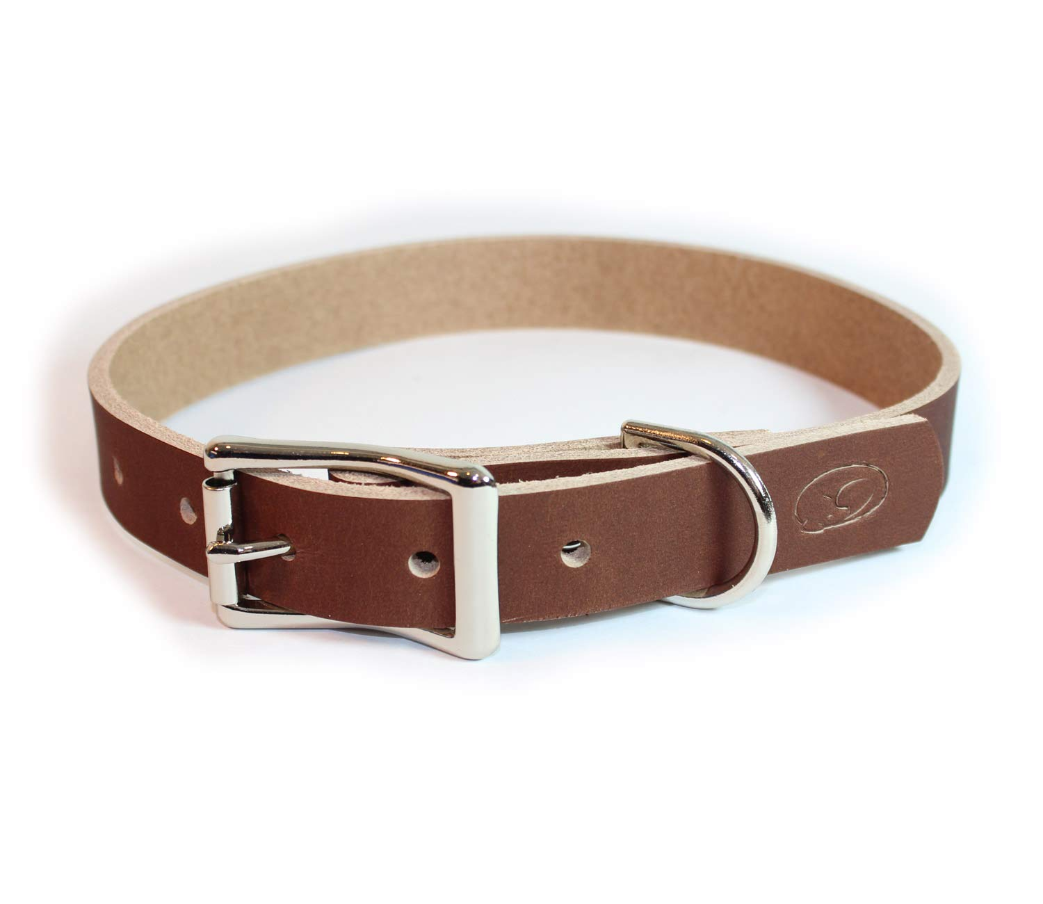 Light Brown Large  18\ Light Brown Large  18\ sleepy pup Full Grain Thick Leather Dog Collar Made in The USA (Large  18 -22 , Light Brown)