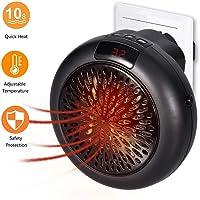Instant Heater,Mini Heizung Thermostat Elektrische Heizung mit Timer Heizlüfter für Steckdose