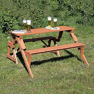 metra - Banco de jardín (madera, se convierte en mesa de picnic ...