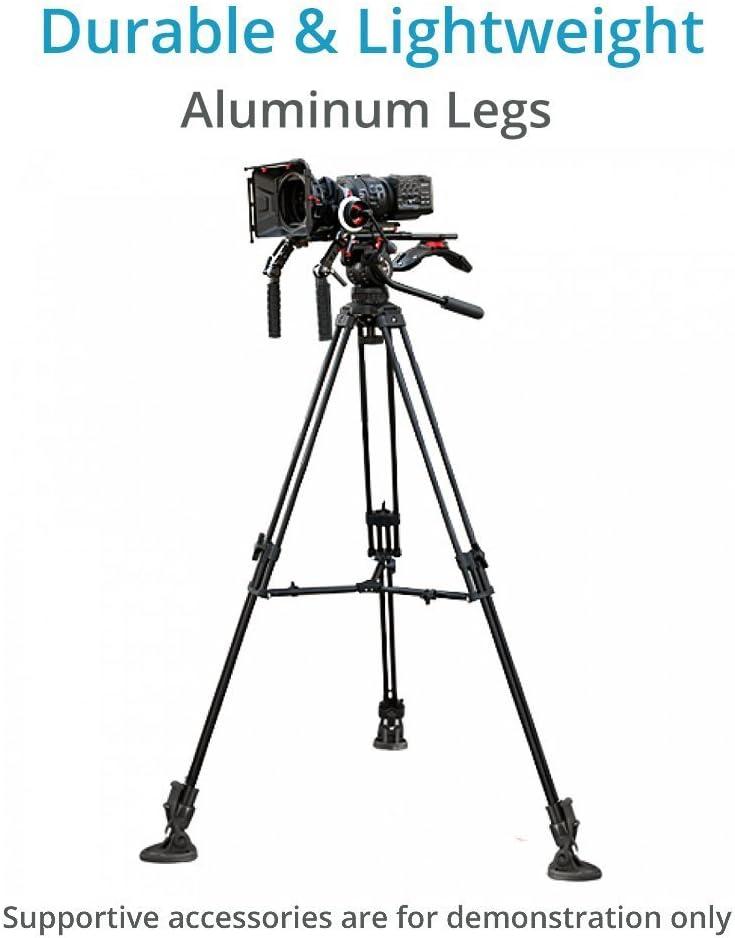 "Storage Bag P-TP-100-B PROAIM 53/"" Professional Aluminum Tripod Stand with 100mm Bowl Head /& Rubber Tripod Shoes for DSLR Video Camera Jib Cranes up to 80kg //176lb"