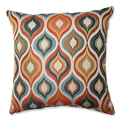 Pillow Perfect Flicker Jewel Throw Pillow, 16.5-Inch - Includes one (1) decorative throw pillow; suitable for indoor use Plush Fill - 100-percent polyester fiber filling Edges of decorative pillow are knife edge - living-room-soft-furnishings, living-room, decorative-pillows - 610Uxtgv2cL. SS400  -