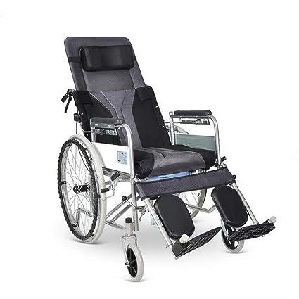 Silla de ruedas Manual Plegable Ligero Y Versátil con Mesa De Comedor Cinturón Potty, para