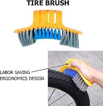 BESTE - Juego de 9 cepillos de limpieza para bicicleta con cubo ...