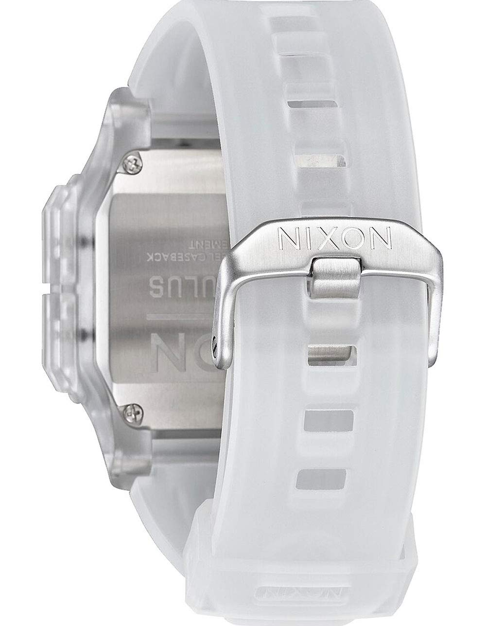 NIXON Regulus 29 mm – 24 mm PU/gummi/silikonband 32 mm ansikte Klar