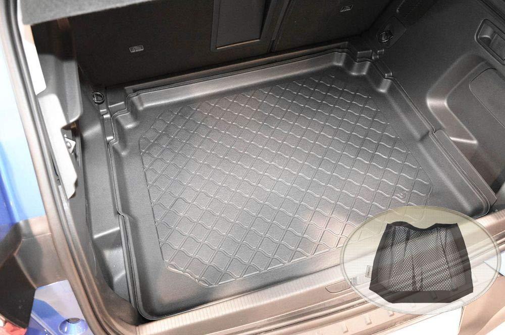 Laderaumwanne, Kofferraummatte ZentimeX Z3293973 Gummierte Kofferraumwanne fahrzeugspezifisch Klett-Organizer